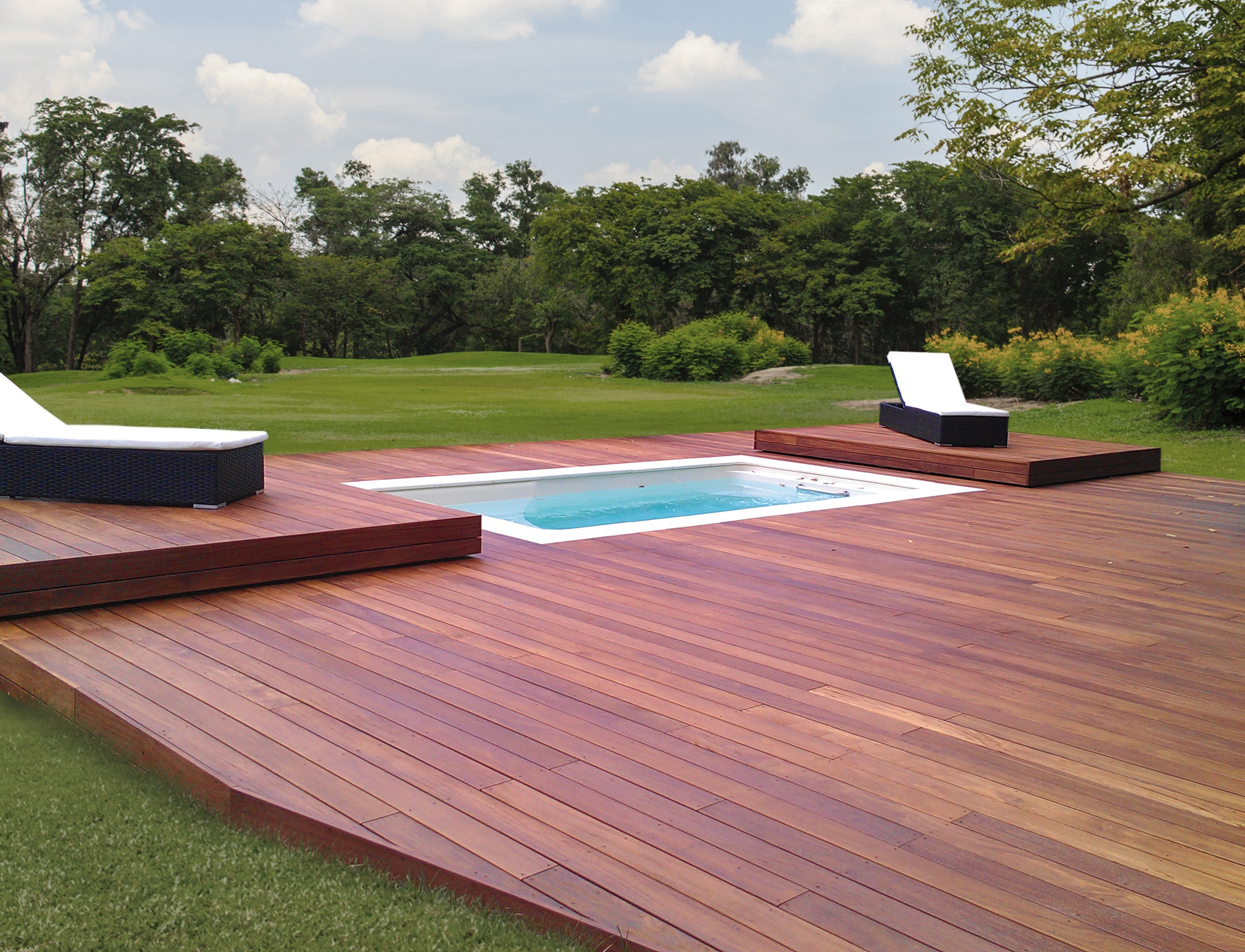 Pretty Pool - plancher coulissant ouvert